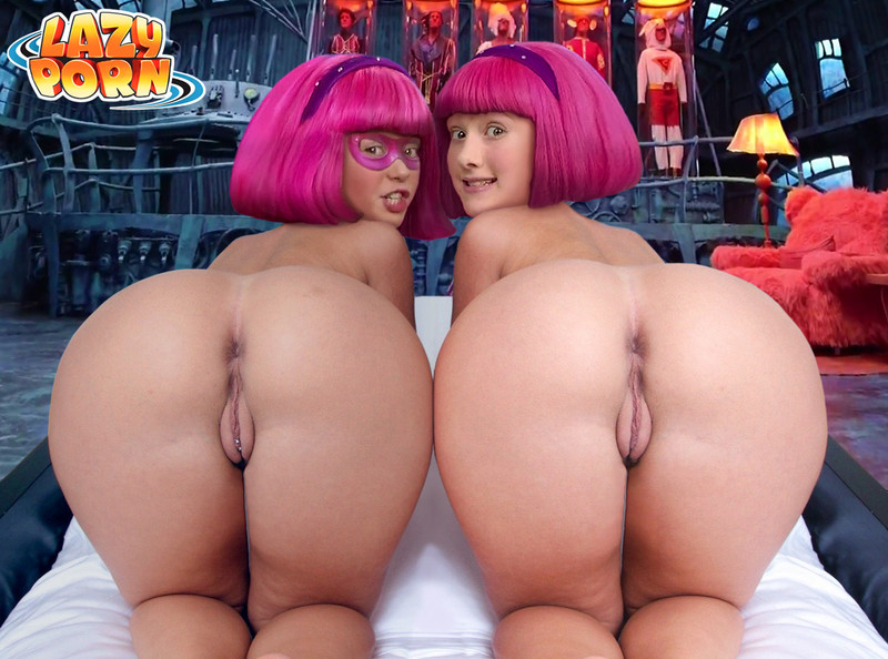 Stephanie has eventually found her arse-twin!