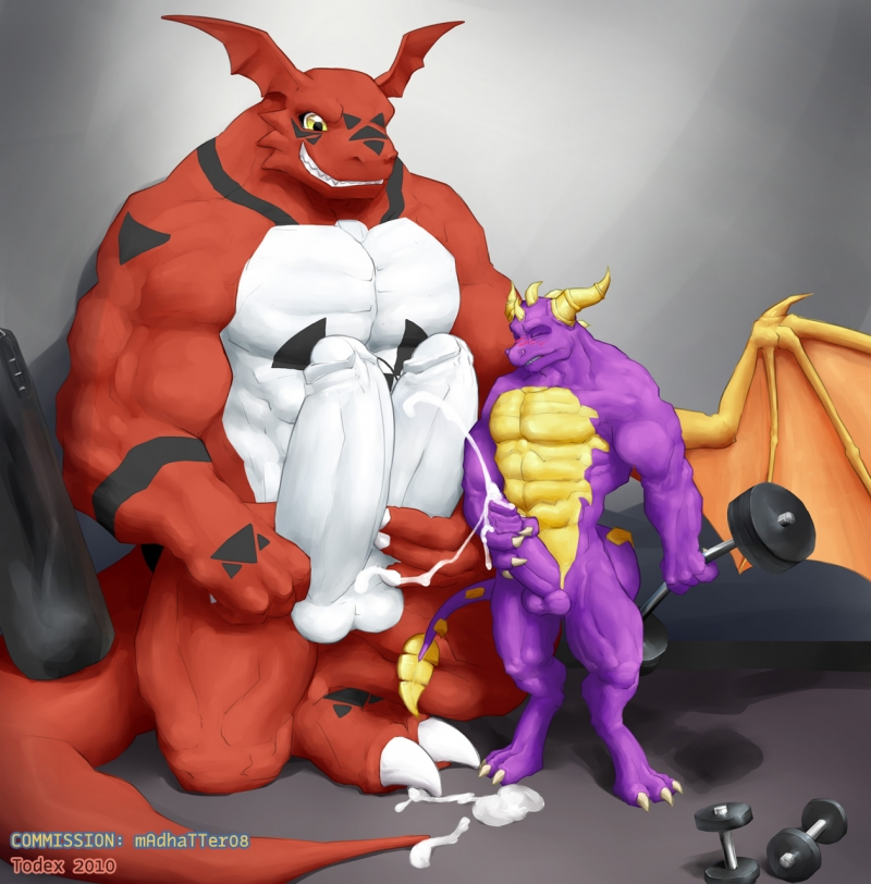 438839 - Digimon Guilmon Spyro_The_Dragon Todex crossover.jpg