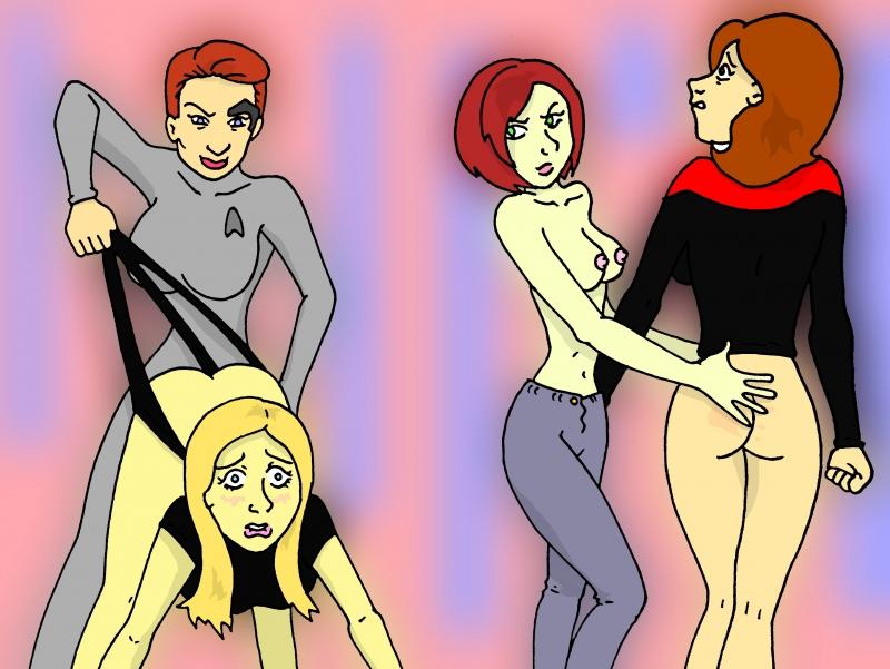 752511 - Buffy_Summers Buffy_the_Vampire_Slayer Kathryn_Janeway PariahExileWrath Seven_of_Nine Star_Trek Star_Trek_Voyager Willow_Rosenberg borg crossover.jpg