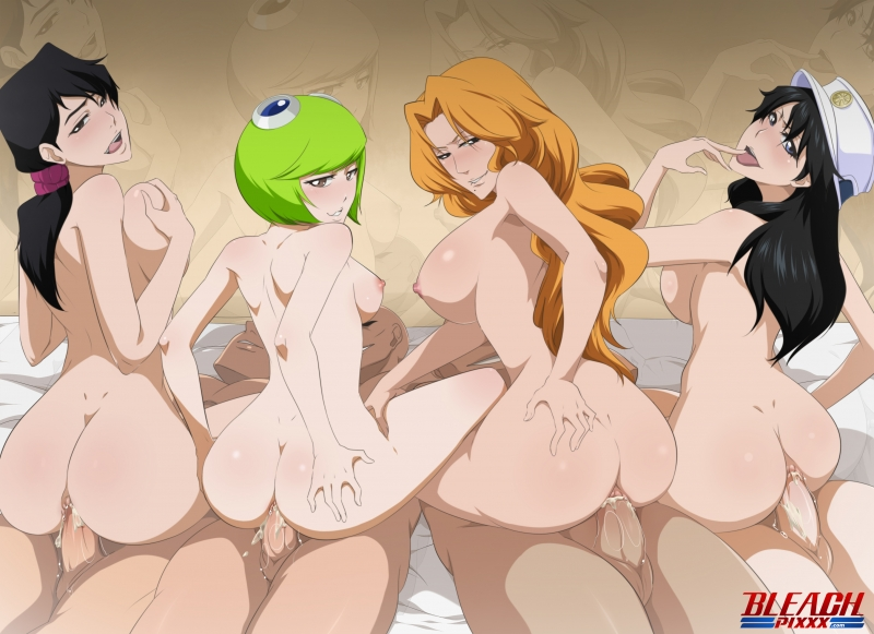"These Four beauties from ""Bleach"" not only have wonderful cabooses - they all love being nailed in them!"