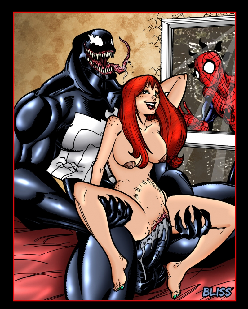 Mary Jane Watson Spider-man 1293182 - Marvel Mary_Jane_Watson Peter_Parker Spider-Man Venom simplylips.jpg