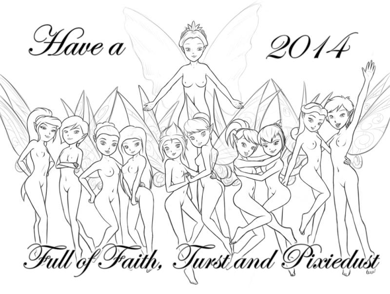 1274497 - Chloe Disney_Fairies Fawn Gliss Iridessa New_Year Periwinkle Peter_Pan Queen_Clarion Rosetta Silvermist Spike Tinker_Bell Vidia uselessboy