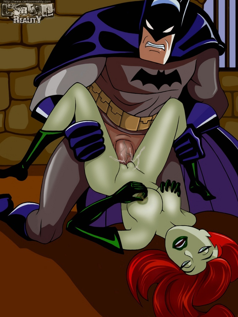 Batman romped big-chested Poison Ivy