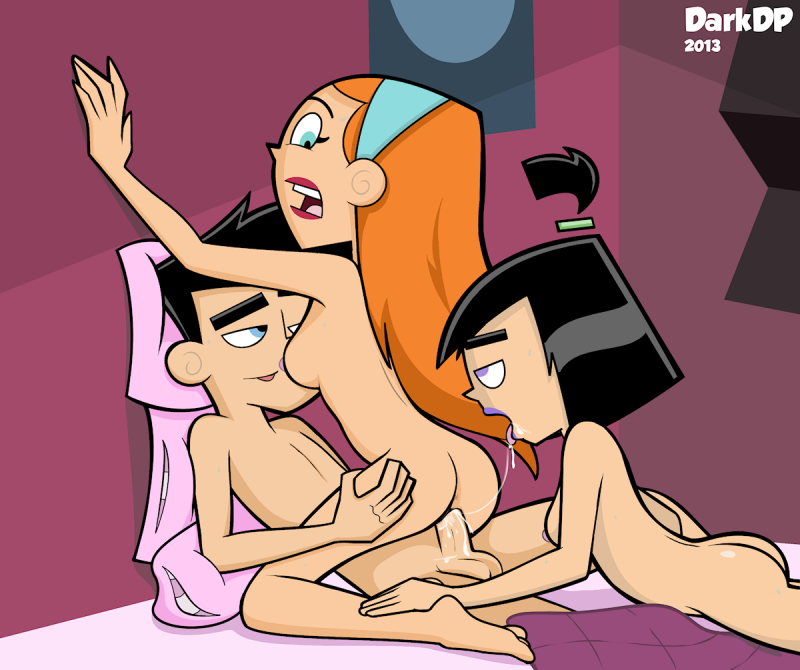 Jazz was riding on Danny's pecker when Sam decided to join the fun...
