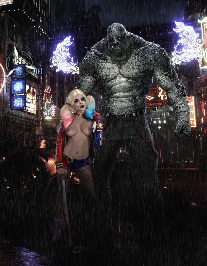 Harley Quinn (Harleen Frances Quinzel) 1847358 - Batman:_Arkham_City Batman_(series) DC Eiza_González Harley_Quinn Killer_Croc Suicide_Squad cosplay fakes.jpg