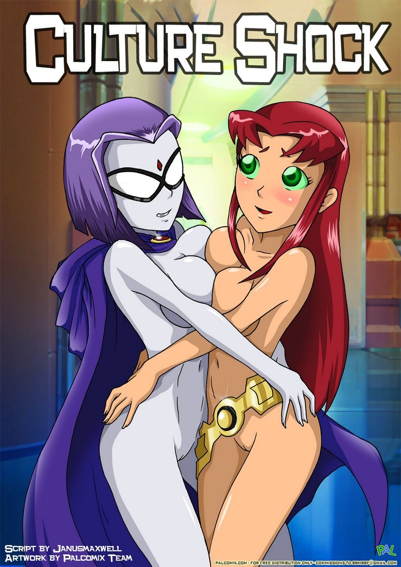 Culture Shock: Starfire is always ready to help Raven to turn it into threesome