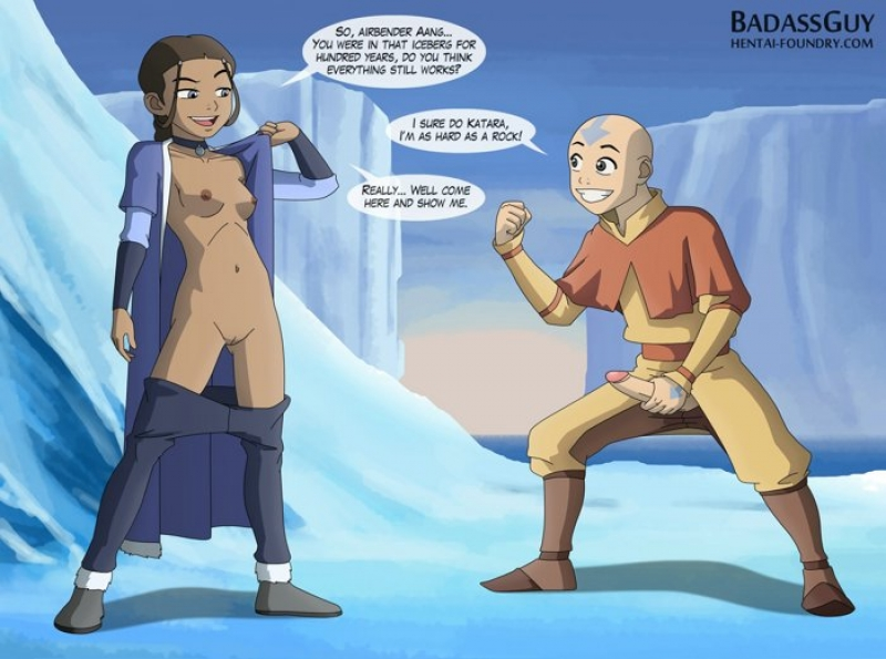 Katara is well-prepped to test how unbendable Aang's man meat is!