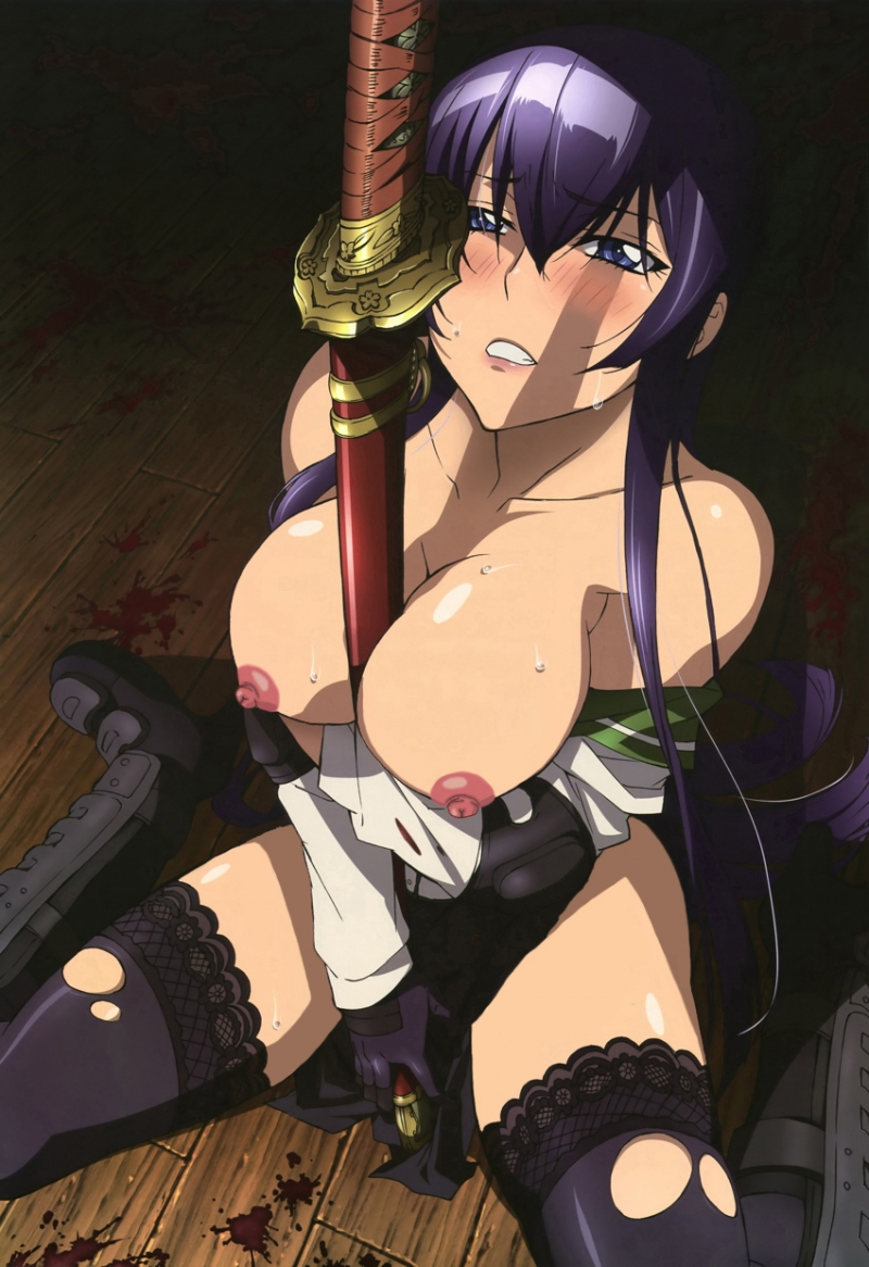 Sexy Saeko Busujima have pretty boobs
