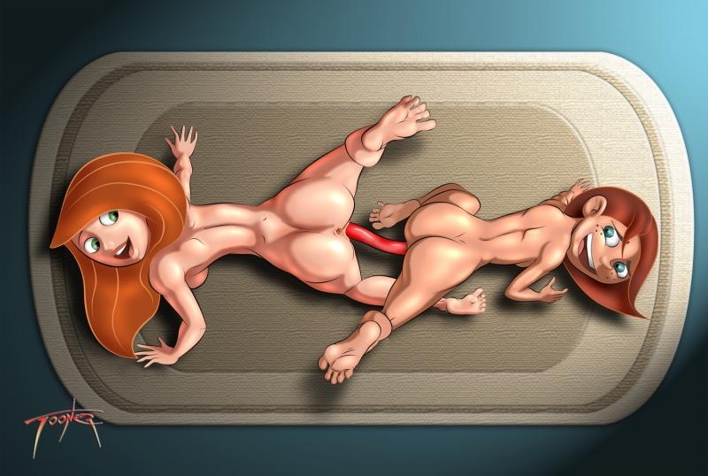 Cartoon Porn: Kim Possible Naked Lesbian