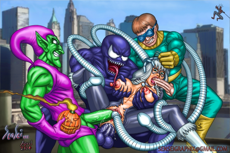 Black Cat 1397572 - Black_Cat Doctor_Octopus Green_Goblin Marvel Spider-Man Venom sensei.jpg