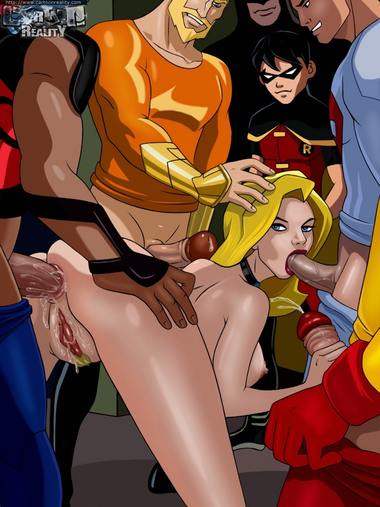 Everey superhero wants to fuck sexy blonde Black Canary!