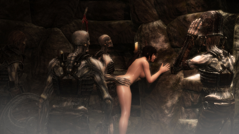 Lara Croft Argent 1273788 - Giallo1972 Lara_Croft Skyrim The_Elder_Scrolls Tomb_Raider crossover draugr.jpg