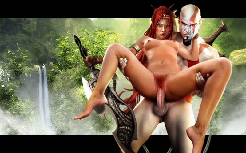 187751 - God_of_War Heavenly_Sword Kratos Nariko Ranged_Weapon crossover.jpg