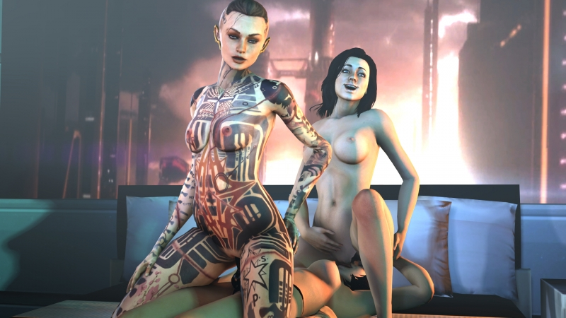 Sex With Liara And Ashley Mass Effect 2