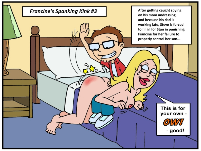Francine has her own idea of whose culo needs to be spanked in this palace...