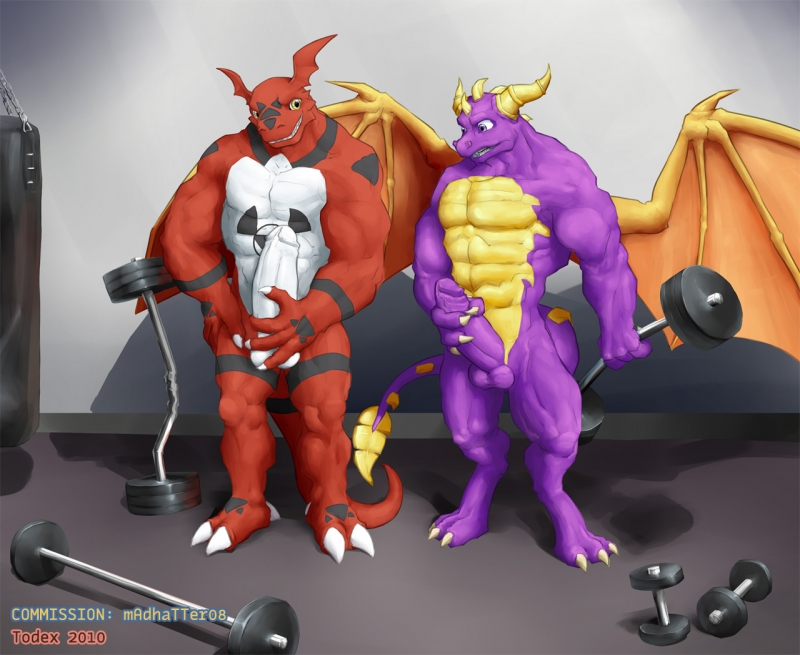 438838 - Digimon Guilmon Spyro_The_Dragon Todex crossover.jpg