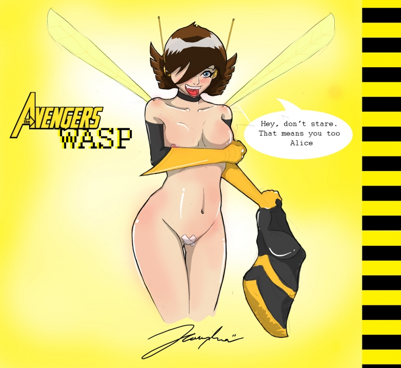 Without dress busty Wasp look amazing