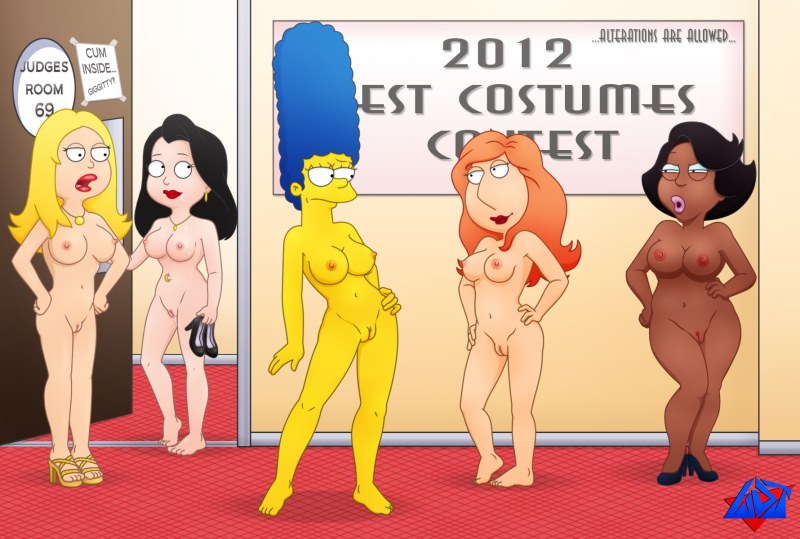 Loretta Brown Lois Griffin Marge Simpson