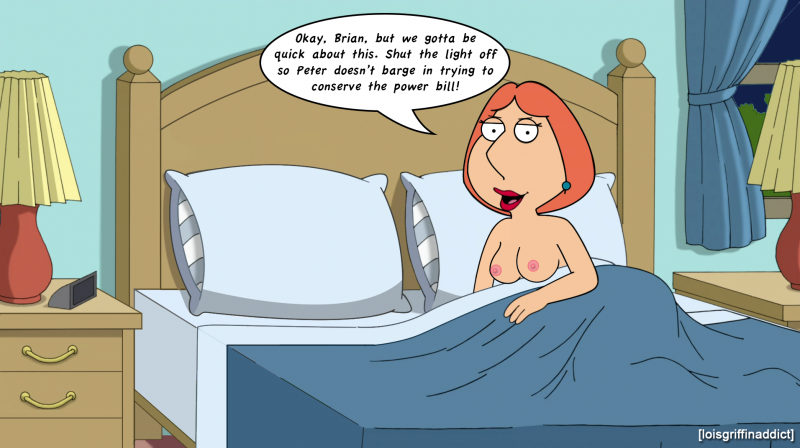 Lois Griffin get well-prepped for night bang-out rodeo