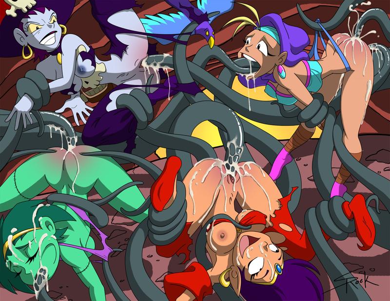 1122351 - Risky_Boots Rottytops Shantae Shantae_(character) selrock sky.jpg