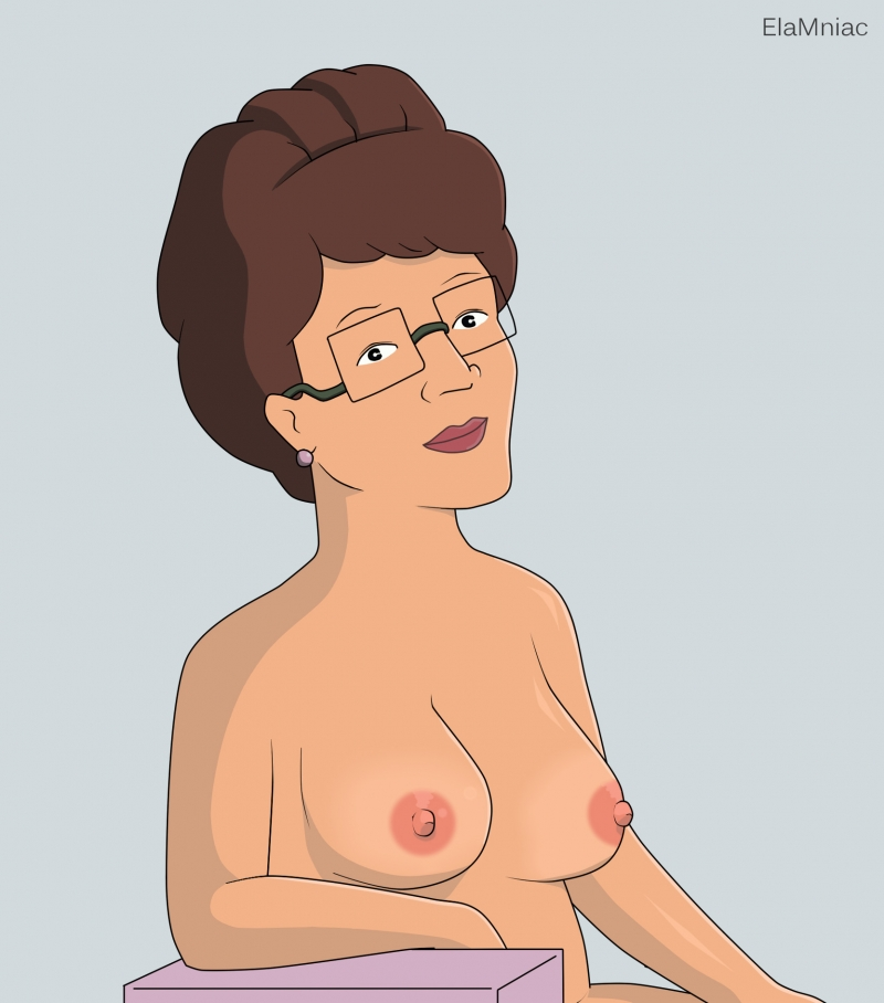 Peggy Hill flashes her puffy bosoms