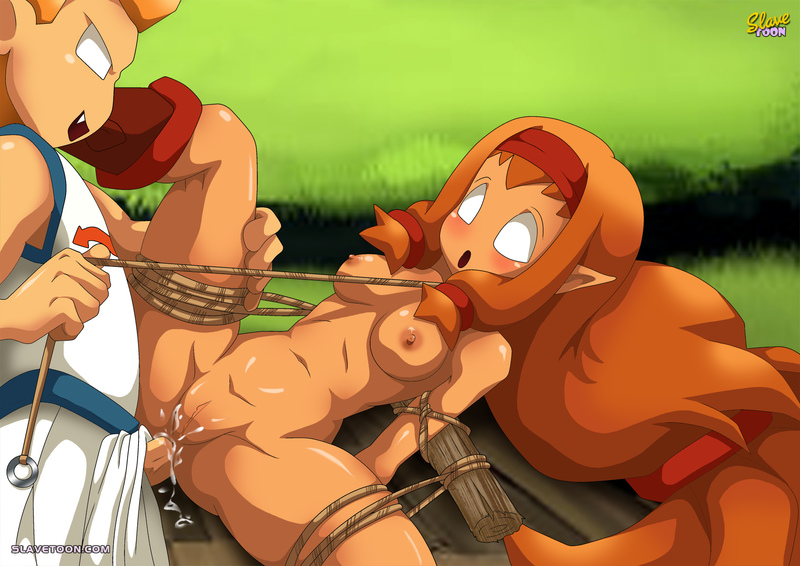 In the world of Wakfu sexy redhead elfs are tied up and fucked pretty often