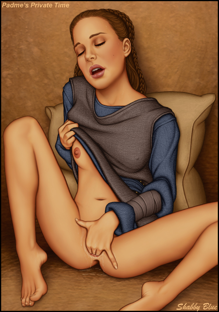 Padme uses her intimate time to relief off...