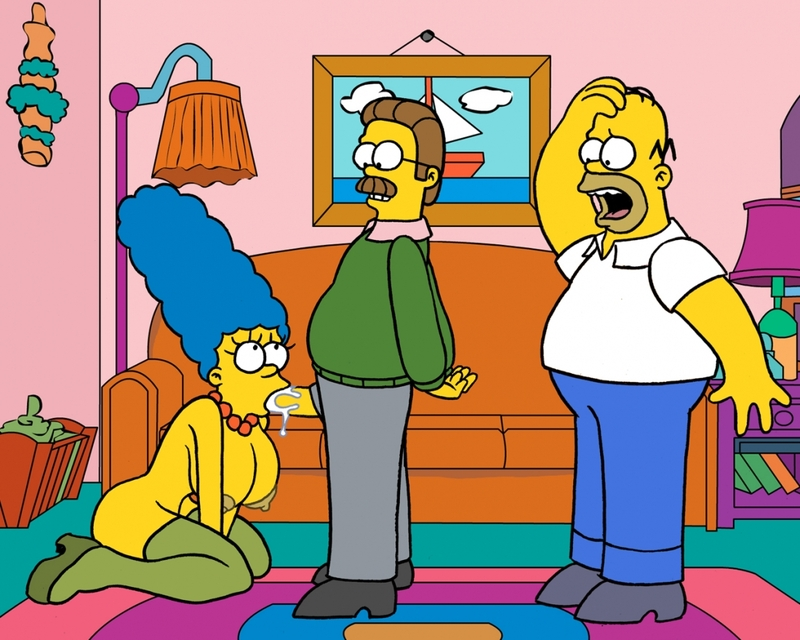 Homer Simpson Marge Simpson Ned Flanders Nikki Wong Amy normal_Pic01~1.jpg