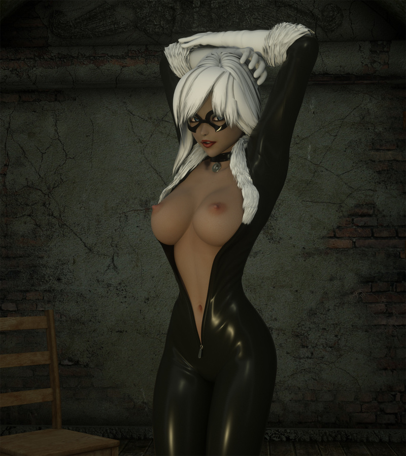 Black Cat Spiderman Nude