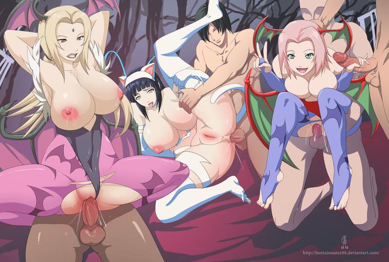 1563544 - Darkstalkers Felicia Halloween Hinata_Hyuuga Lilith_Aensland Morrigan_Aensland Naruto Sakura_Haruno Tsunade cosplay hentaimaster88.png