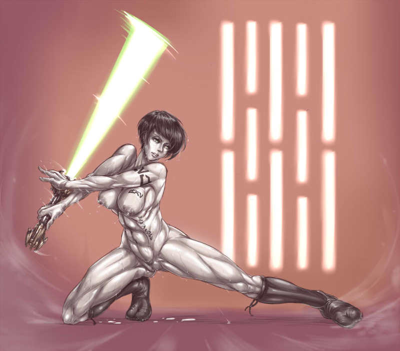 Jedi damsels are so luxurious when owning lightsaber bare!