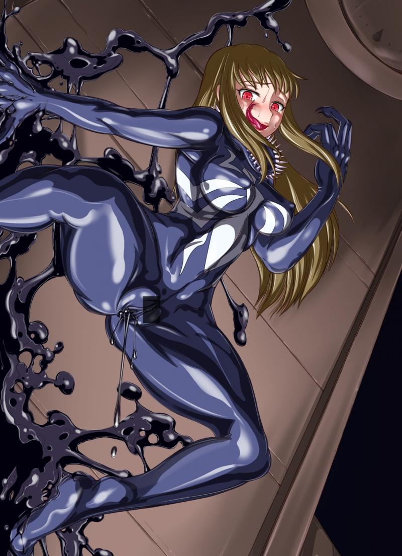 Natsuki Kuga Hime 407036 - Itagayui Mai-HIME Shizuru_Fujino Spider-Man_(series) Venom cosplay.jpg