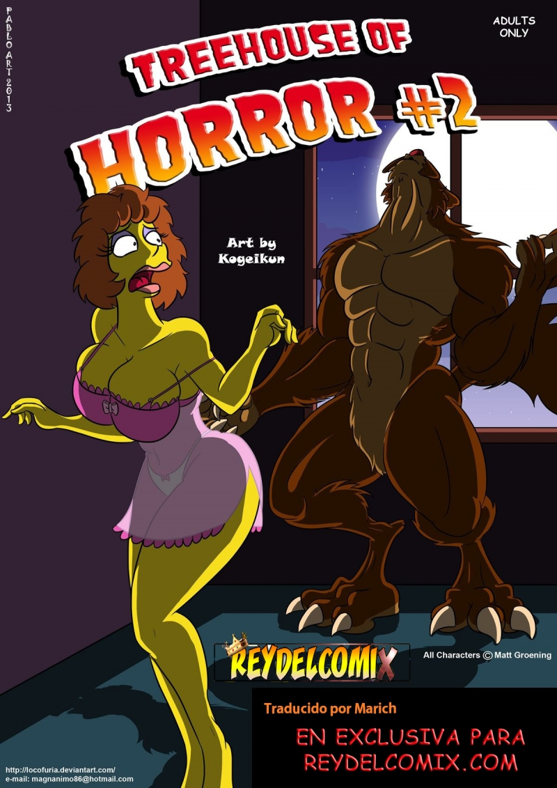 Treehouse Of Horror #2 (Spanish): Springfield werevolves are always horny
