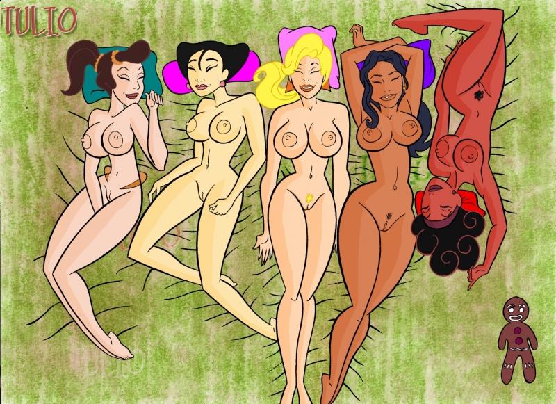 164503 - Adella Ariel's_Sisters Beauty_and_the_Beast Calliope Elisa_Maza Gargoyles Gingerbread_Man Hercules Hercules_Muses Laura Mei Mulan Shrek The