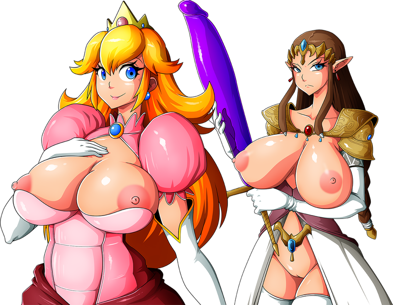 1553562 - Legend_of_Zelda Princess_Peach Princess_Zelda Super_Mario_Bros. Super_Smash_Bros. Witchking00 crossover.png