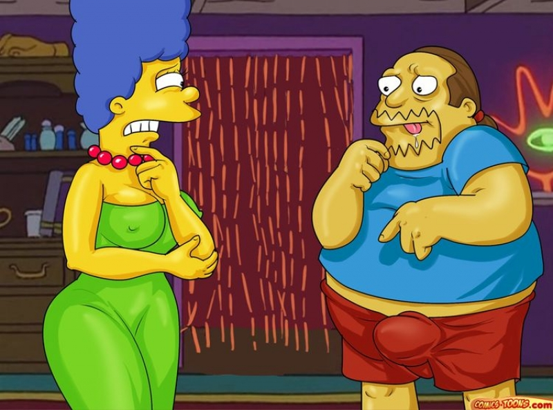 Set 8/Ten (The Simpsons): Tonight Marge will be screwed by nit one but 2 thick spears!