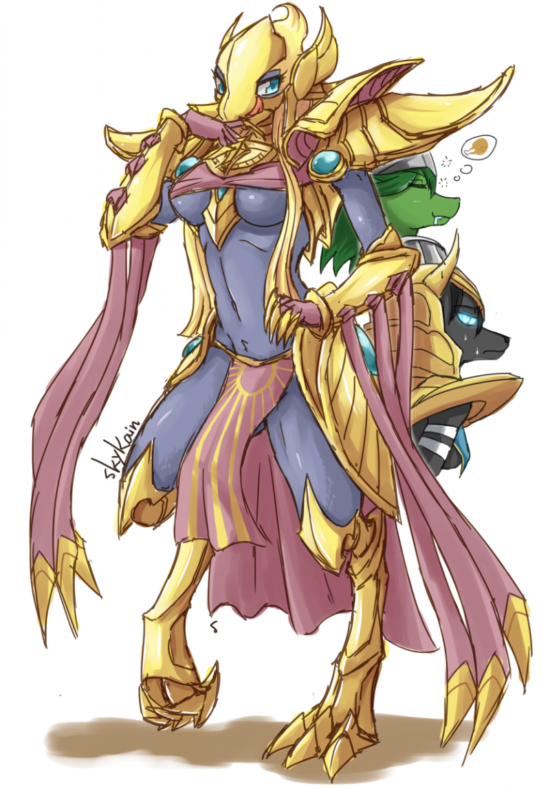 1464130 - Azir League_of_Legends Rule_63 SkyKain nasus renekton.png