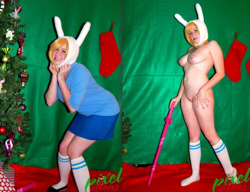 1004686 - Adventure_Time Christmas Fionna_The_Human_Girl PixelVixens cosplay.jpg