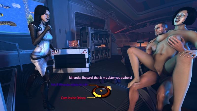 Miranda turns on eyeing Shepard pummeling her sista Oriana!