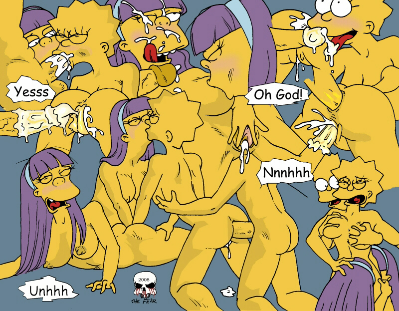 Sherry and Terry join Bart and Lisa in this hot orgy fun!