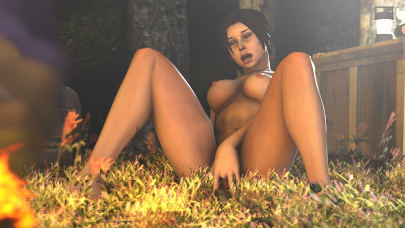 Lara Croft Topless