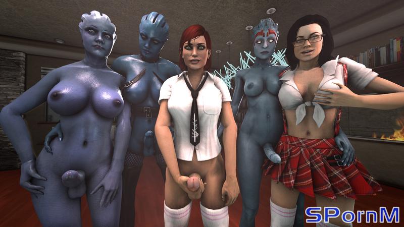 1509306 - Aria_T'loak Asari Commander_Shepard FemShep Liara_T'Soni Mass_Effect Mass_Effect_3 Miranda_Lawson SPornM Samara.jpg