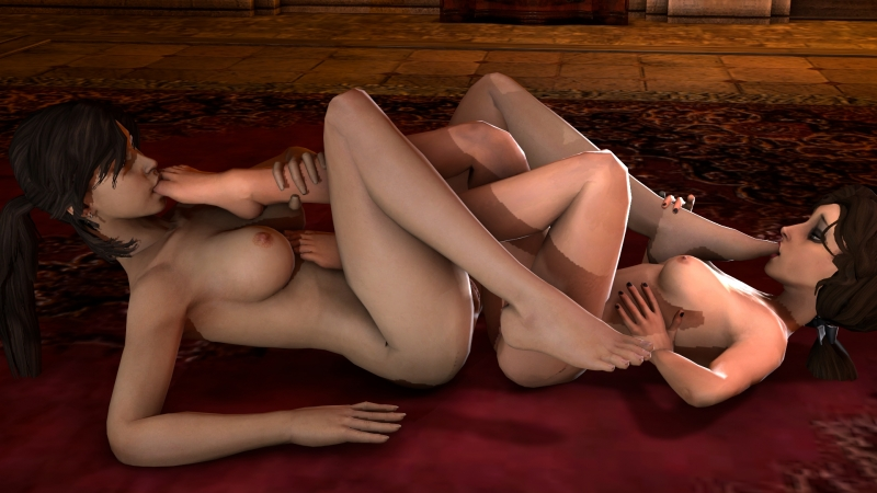 Elizabeth finally has a girlfriend who shares her girly-girl feet fetish!