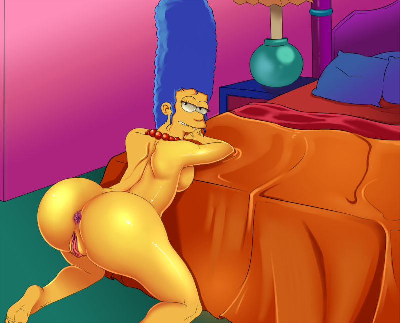 Marge Simpson has an extraordinaire bootie - and she is prepped to take fuck-sticks of any size in it right now!