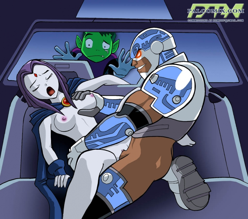 Beastboy seems not so blessed to know that Raven prefers ebony hard-on!