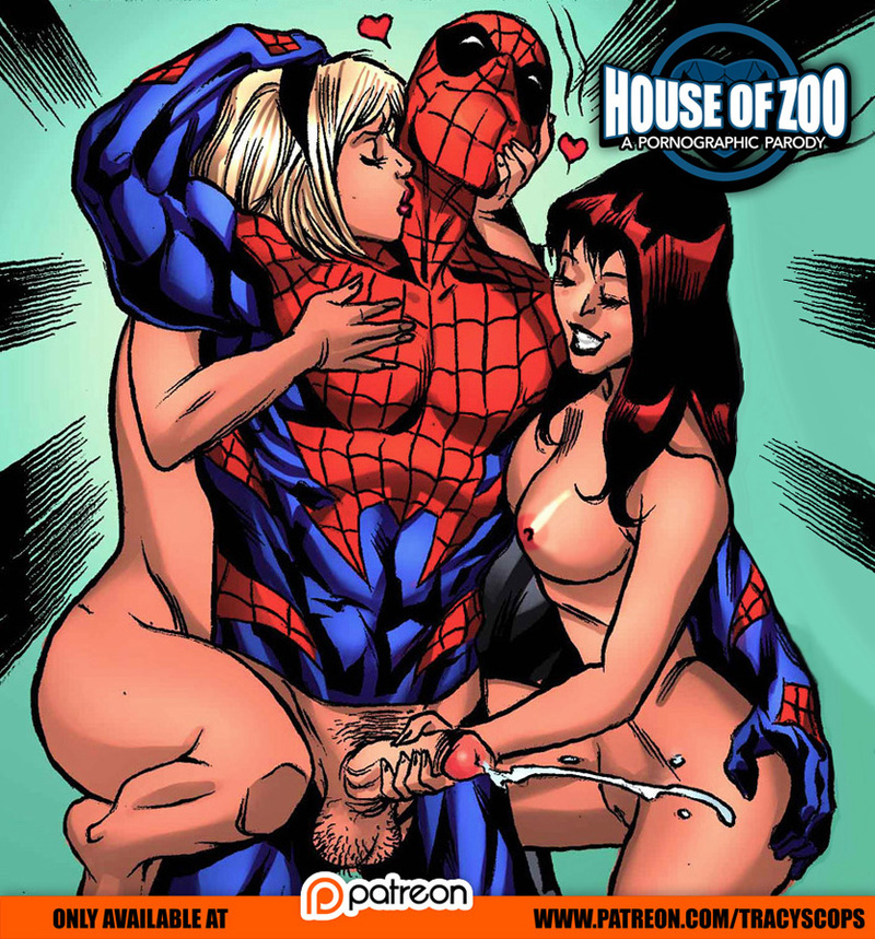 Spider-man has two hottest sluts of MU for himself!