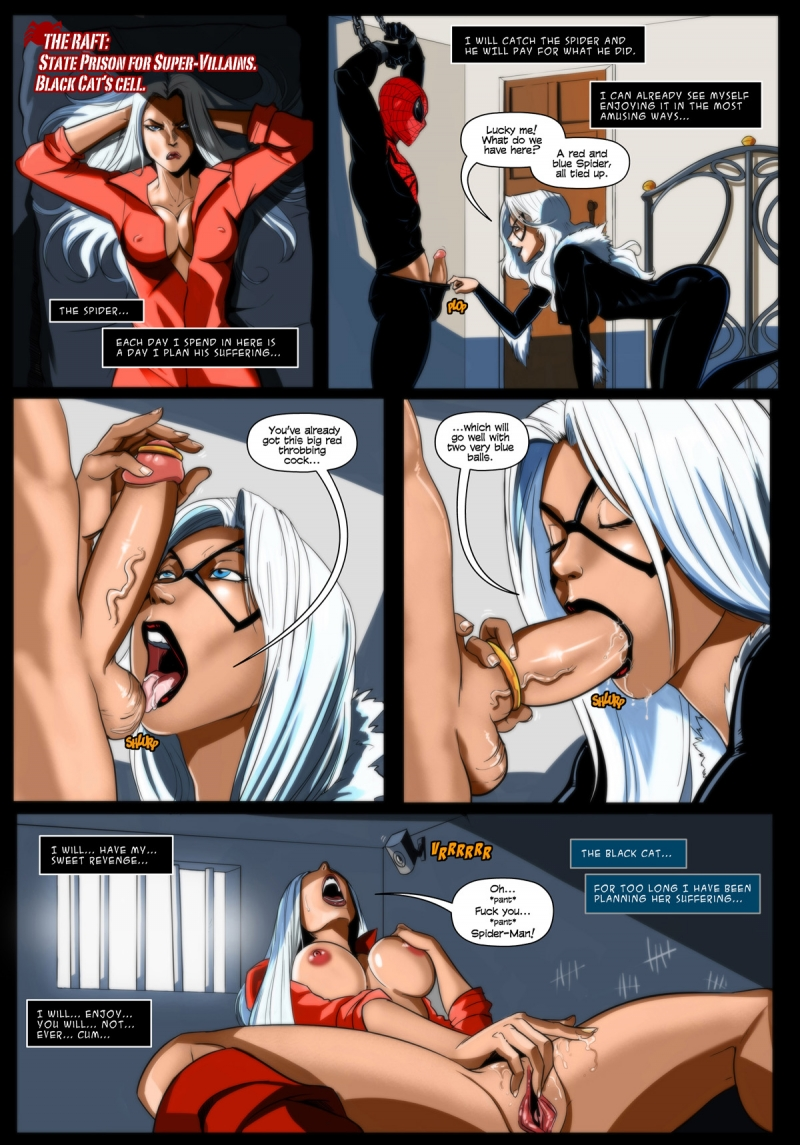 spiderman black cat sex