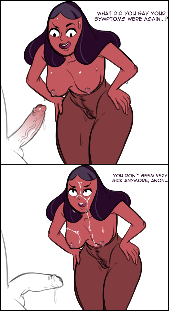 Connie make guys to cum by only looking at the dick!