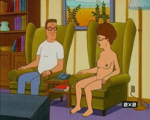 Looks like Peggy Hill just forgot to put on all of her clothes!