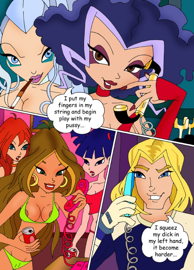Porn Show from sexy and very slutty chicks from Winx Club!